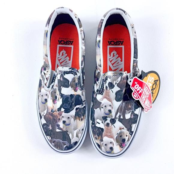 9e565572eb Vans ASPCA Puppy Print Size 4.5 6 RARE