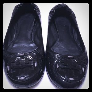 Tory Burch authentic. Black flats preloved, VGUC