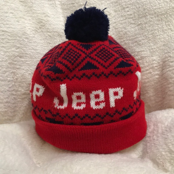 e3d8b6e4ca7 Jeep Other - Jeep Winter Beanie Hat with Pom Pom