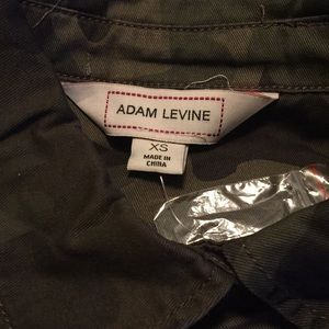 Adam Levine camo button down shirt