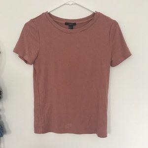Blush cropped t shirt