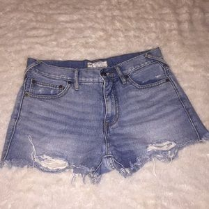 Free people ripped jean shorts size 27!