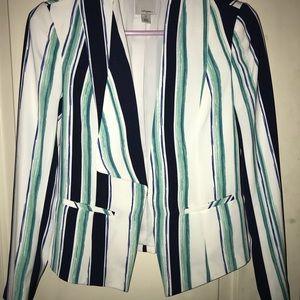 Striped asymmetrical Blazer