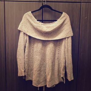 Off-shoulder Anthropologie sweater