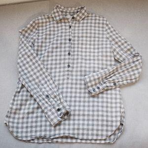 J.Crew Gray Gingham Boy Fit Shirt