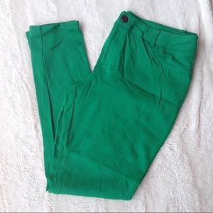 INC kelly green skinny pants