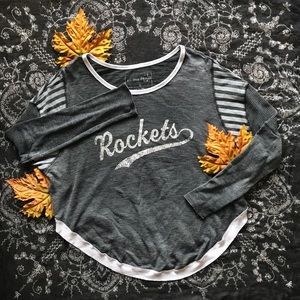 """-Free People-""""Rockets"""" Grey Oversized Top-Size: M-"""