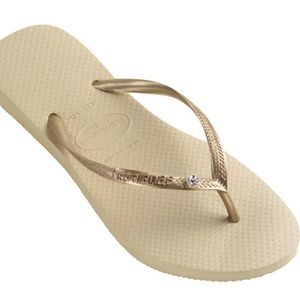 Havianas Slim Crystals Sandals size 9