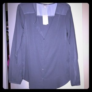 Banana republic grey blouse NWT