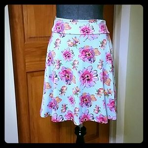 Floral Azure Skirt