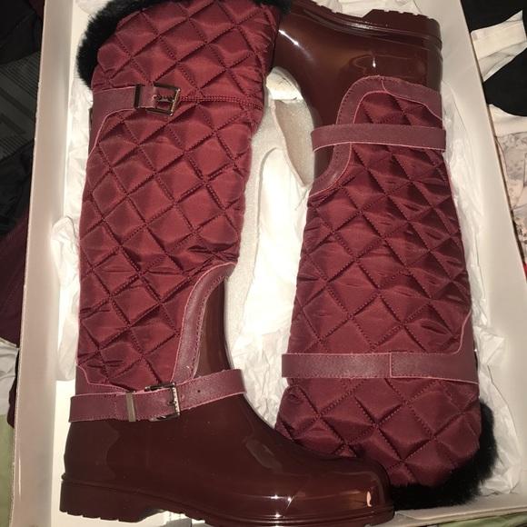 Michael Kors Shoes | Burgundy Michael