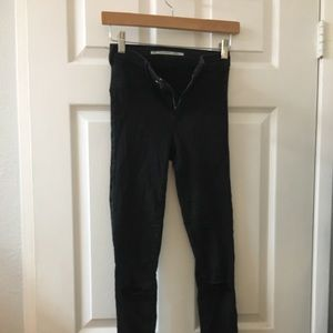 Zara black ripped stretch jeans