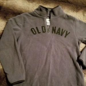 Boys Old Navy zip up pullover fleece