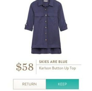 NWT Stitch Fix Skies Are Blue Karlson Top Large