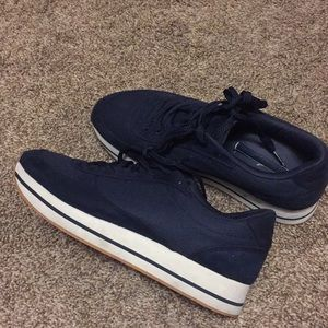 Zara navy blue sneakers