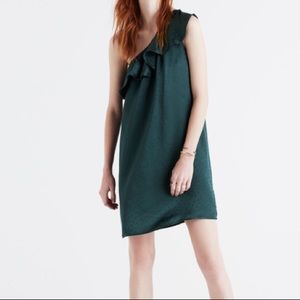 Madewell Silk One Shoulder Dress