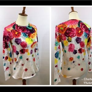 Brightly colored floral top