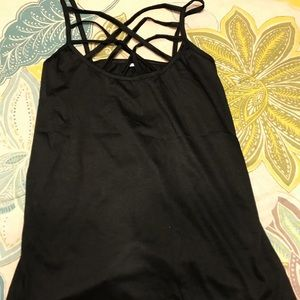 Tops - BRAND NEW Black Criss Cross Tank