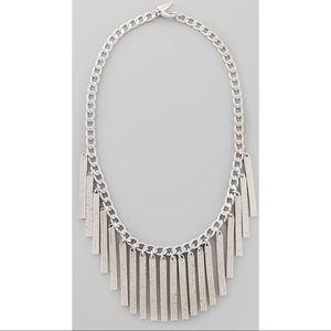Rebecca Minkoff Silver Pavè Crystal Bib Necklace