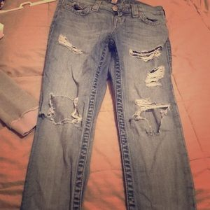 Super ripped TR bf jeans