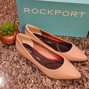 Rockport Adelyn Ballet Flats in Taupe Leather