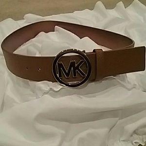 Michael Kors Gold Buckle Belt