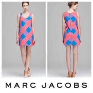 NWT Marc Jacobs Plaid Lemonade Shift Dress Size 0