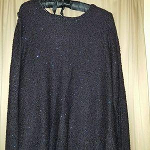 Sparkly plum sweater Apt 9