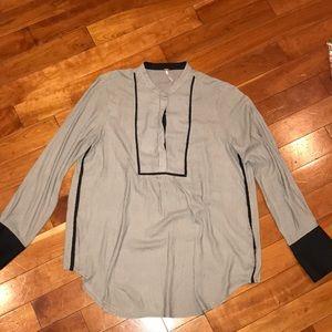 Free people large size bib blouse