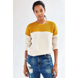 BDG Color Block Knitted Cozy Sweater