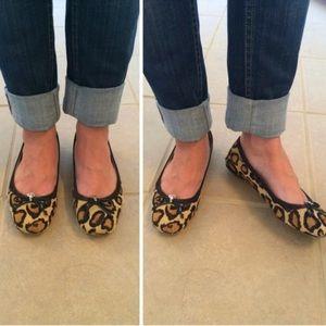 Sam Edelman Felicia Leopard Flats Faux Fur