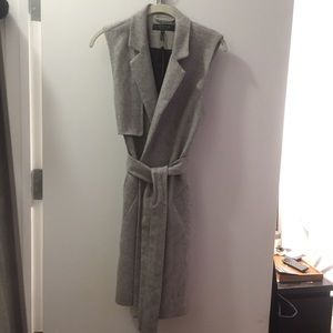 RAG & BONE - grey wool wrap around vest.