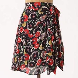 Anthropologie Floral Skirt By Maple