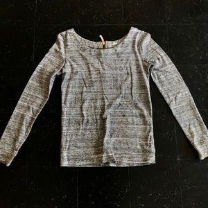 Light Heather Gray J. Crew Thick Long Sleeve Shirt