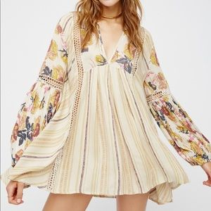 Free People Just The Two Of Us Tunic Floral Small
