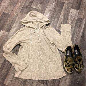 J.Crew zip hoodie