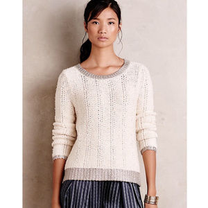 Moth Glimmer Banded sweater