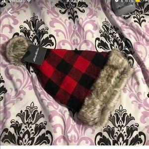 Brand new plaid Christmas hat