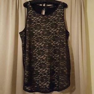 Lace overlay tank by Apt 9