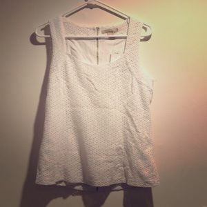 Banana Republic White Eyelet Top