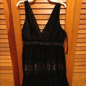 New BCBG Maxazria black evening dress