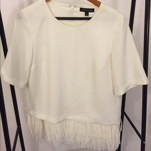 Unique Fringe Blouse Off White