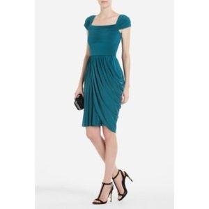 BCBG Maxazria Mikaela Green Asymmetrical Dress XS