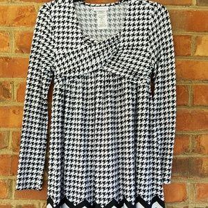 Bonnie Jean black and white dress