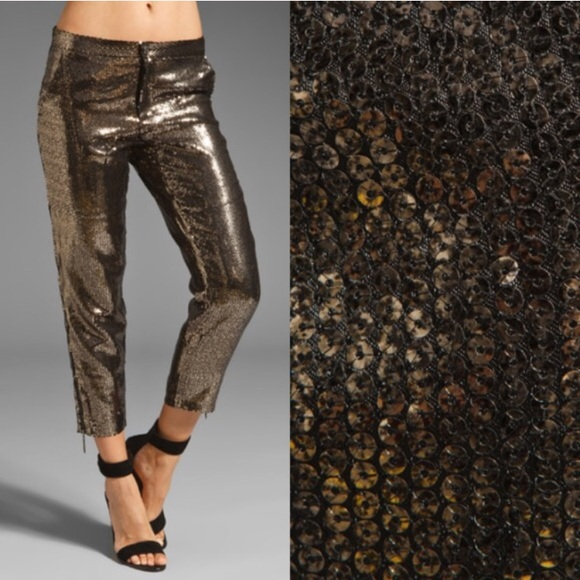 b817505461087 Hunt No More Pants | Offer So Long Bronze Sequin Pant | Poshmark