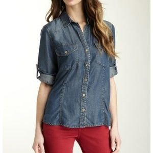Cloth & Stone Anthropologie Denim Top Large