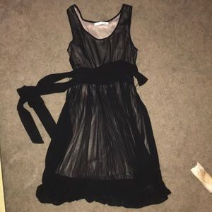 Sheer black dress lined