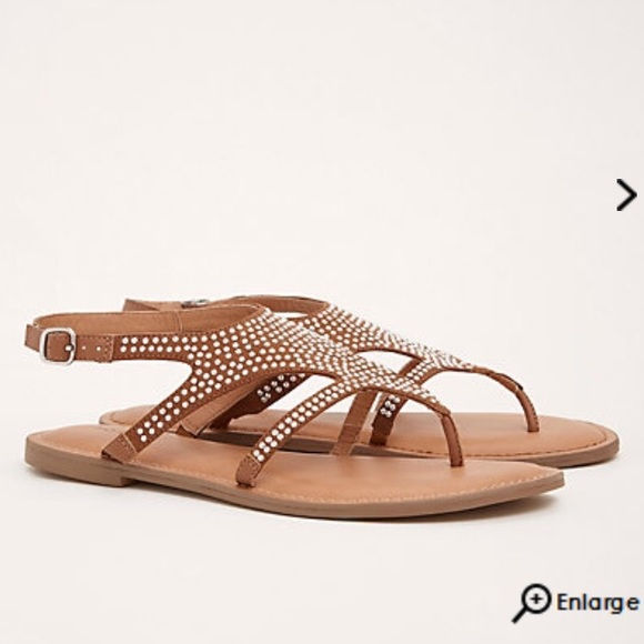 6ae83cf72c40 Wide Width Studded T Strap Gen Jeweled Sandals