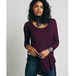 Free People waffle knit thermal