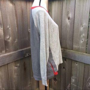 J. Crew Colorblock Cozy Sweatshirt with Side Snaps